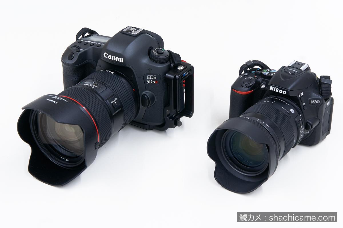EOS 5DsR / D5500 サイズ比較