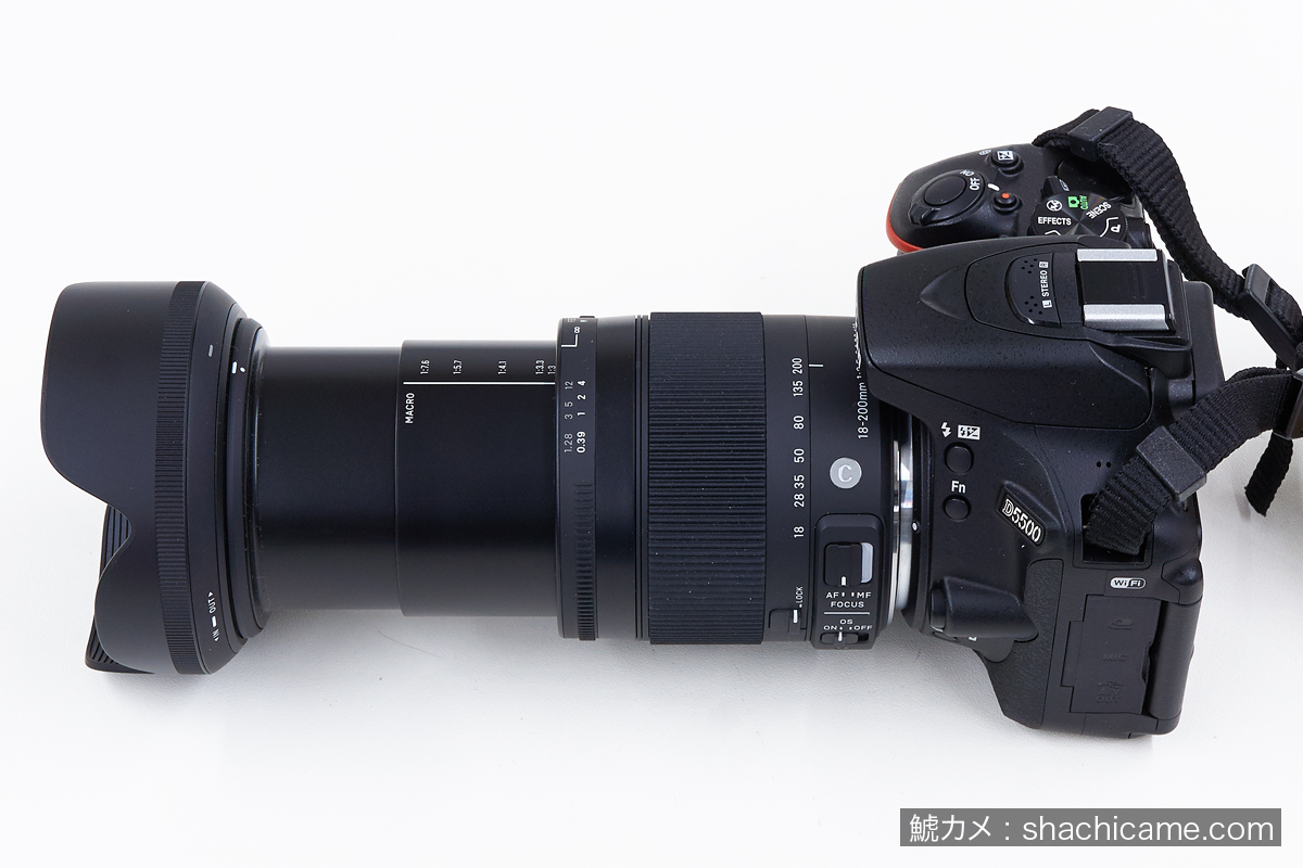 nikon d5500 sigma 18-200mm F3.5-6.3 DC MACRO OS HSM 200mmまでズーム