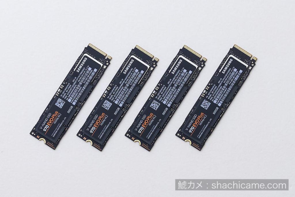 PCIe SSD RAID 04 970 SAMSUNG EVO Plus MZ-V7S500B/IT
