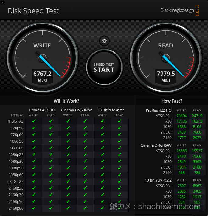 PCIe SSD RAID 20 APFSベンチマーク